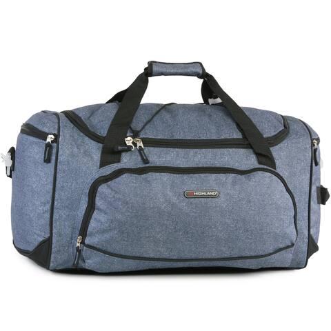 Pacific Coast Highland Static Blue Medium 22-inch Travel Duffel Bag