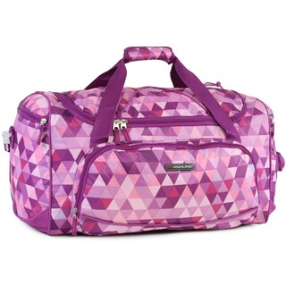 Pacific Coast Highland Triangle Mix Pink/Multicolor Nylon Medium 22-inch Travel Duffel Bag