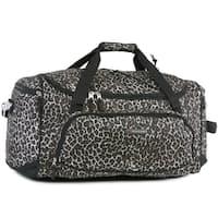 Pacific Coast Highland Leopard Brown Nylon 22-inch Duffel Bag