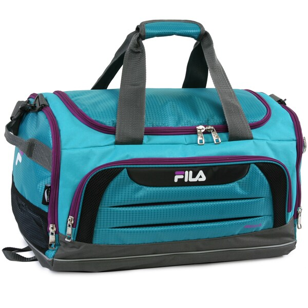 Gym Bag Walmart: Shop Fila Cypress Teal/Purple Small Sport Duffel Bag