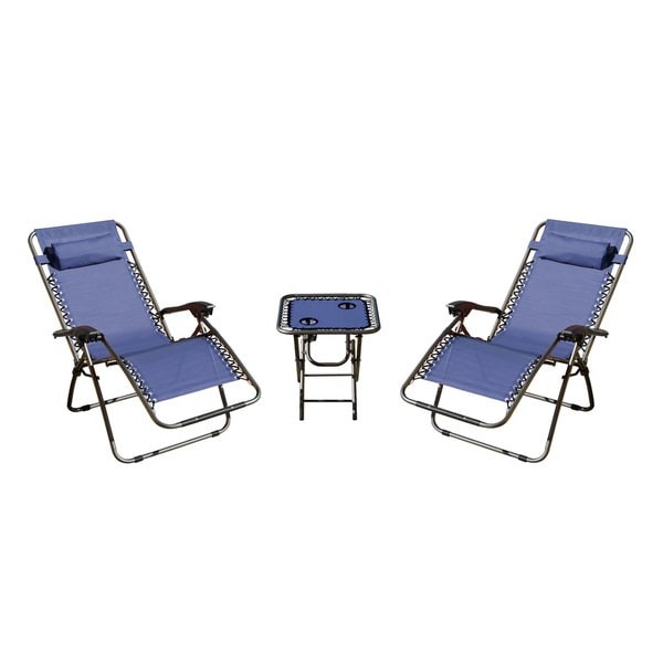 Zero Gravity 3-piece Camping Chairs and Table Set