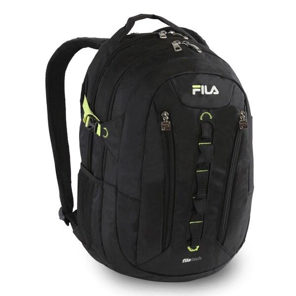 Fila Vertex Black 15-inch Laptop and Tablet Backpack