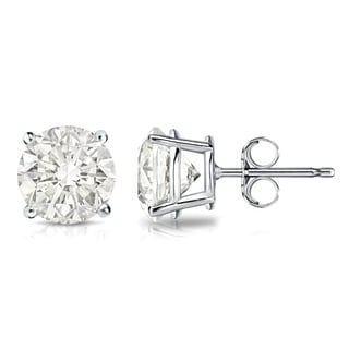 Auriya 14k Gold 2ct TDW 4-Prong Push-Back Clarity-Enhanced Diamond Stud Earrings (J-K, I2-I3)