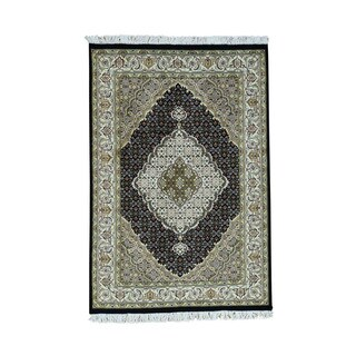 1800getarug Handmade Pak Persian Mahi 300 Kpsi Wool and Silk Oriental Rug (4'3x6'3)