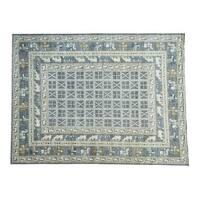 Shahbanu Rugs Hand-Knotted Antiqued Pazyryk Design Peshawar Oriental Rug (10'1x12'9)
