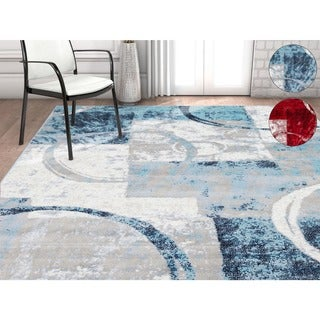 Well Woven Modern Geometric Scrolls Area Rug (7'10 x 9'10)