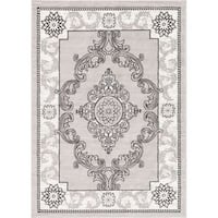 Well Woven Traditional Medallion French Aubusson Area Rug - 5'3 x 7'3