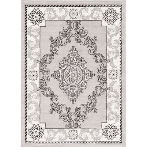 Well Woven Traditional Medallion French Aubusson Area Rug