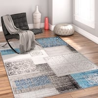 Well Woven Modrn Distressed Patchwork Area Rug - 5'3 x 7'3