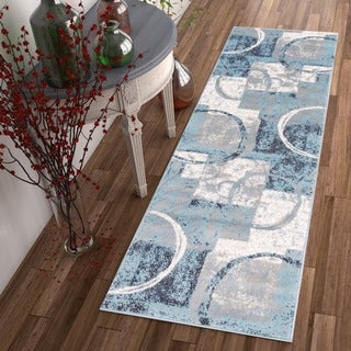 "Well Woven Modern Geometric Scrolls Runner Rug - 2'3"" x 7'3"""