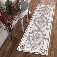 """Well Woven Traditional Medallion French Aubusson Runner Rug - 2'3"""" x 7'3"""""""