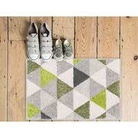 Well-woven Mid Century Modern Geometric Triangles Area Rug - 2' x 3'