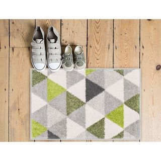 Well Woven Mid Century Modern Geometric Triangles Mat Accent Rug - 2' x 3'