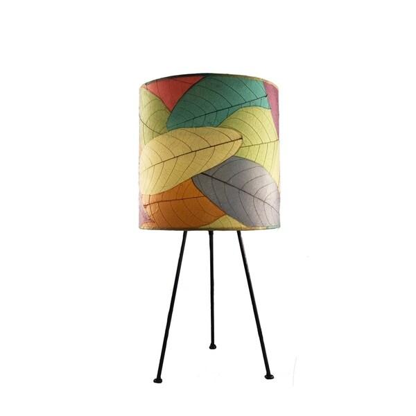 Handmade Metal Tripod Drum Table Lamp