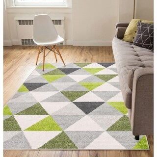 "Well Woven Mid Century Modern Geometric Triangles Area Rug - 5'3"" x 7'3"""