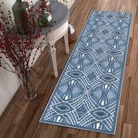 """Well Woven Zamboni Lines and Waves Modern Area Rug (2' x 7'3 Runner ) - 2' x 7'3"""""""