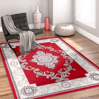 Well Woven Traditional Medallion French Aubusson Area Rug - 9'3 x 12'6