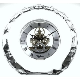 Elegance Crystal Round Skeleton Clock