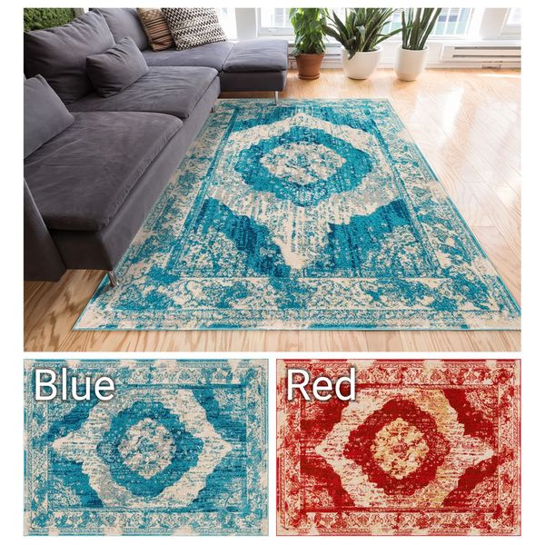 "Well Woven Sydney Vintage Berkshire Distressed Modern Medallion Area Rug - 9'3"" x 12'6"""