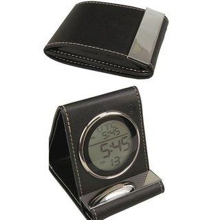 Heim Concept Leather Travel Alarm Clock