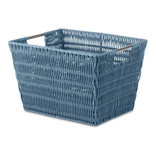 Whitmor Rattique Berry Blue Small Storage Tote
