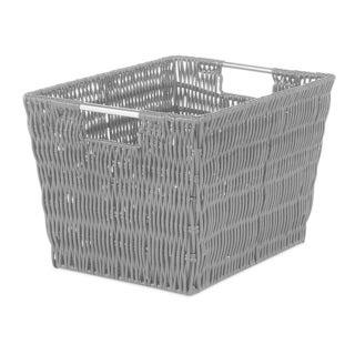 Whitmor Rattique Black Small Storage Tote (Option: Black)