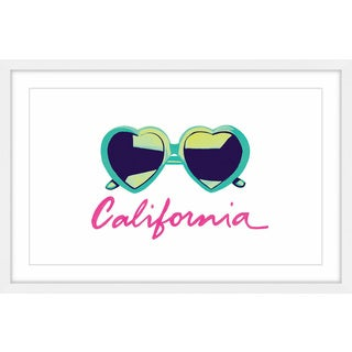 'I Heart California' Framed Painting Print