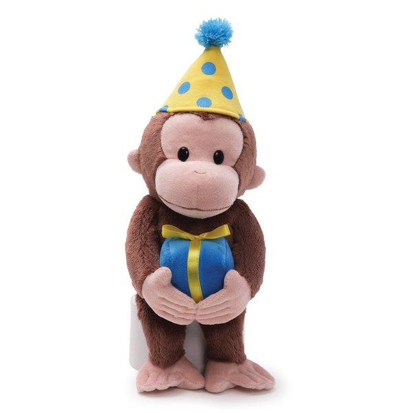 Gund Curious George 14-inch Birthday Plush Toy