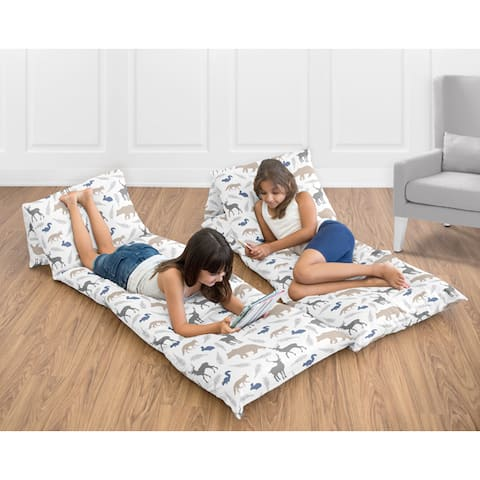 Floor Pillow Lounger Cover Woodland Animals Collection by Sweet Jojo Designs (Pillows Not Included) - Multi