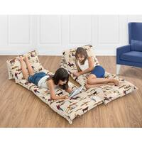 Sweet Jojo Designs Wild West Collection Floor Pillow Lounger Cover (Pillows Not Included)