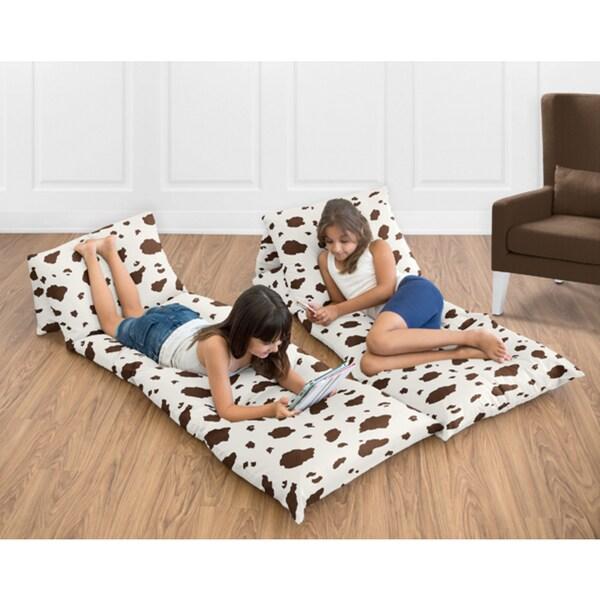 Sweet Jojo Designs Wild West Collection Cow Print Floor Pillow ...