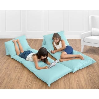Sweet Jojo Designs Turquoise Blue Floor Pillow Lounger Cover (Pillows Not Included)