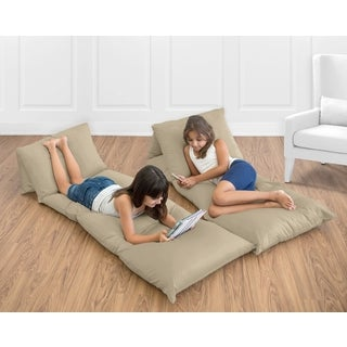 Sweet Jojo Designs Taupe Microsuede Floor Pillow Lounger Cover
