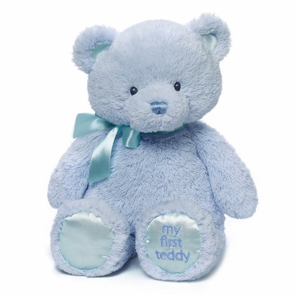 Gund My First Teddy Blue 15-inch Plush Bear