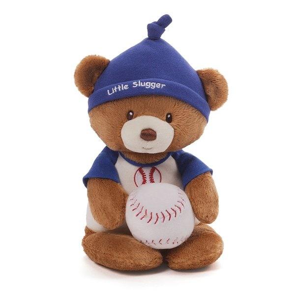 Gund Little Slugger Baseball Bear and Rattle
