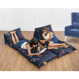 Sweet Jojo Designs Space Galaxy Collection Microfiber Floor Pillow Lounger Cover (Pillows Not Included)