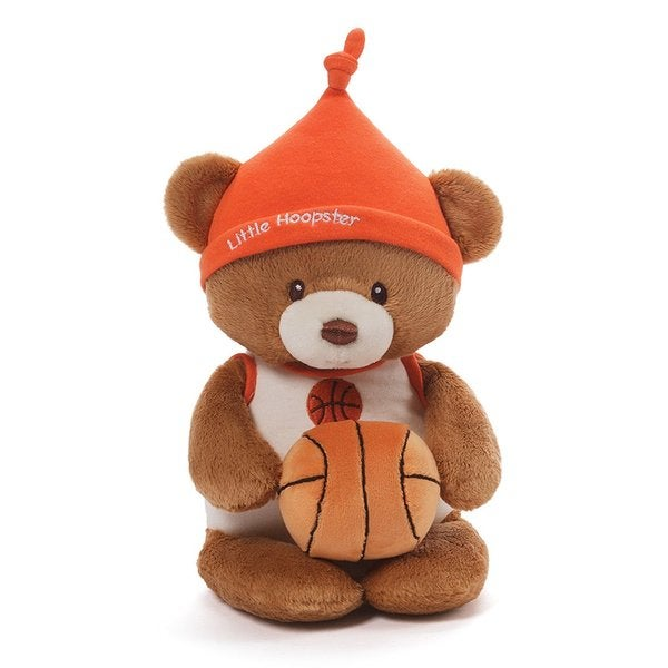 Basketball Bear and Rattle Plush Toy