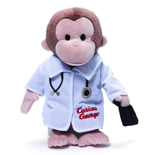 Curious George 13-inch Doctor Plush