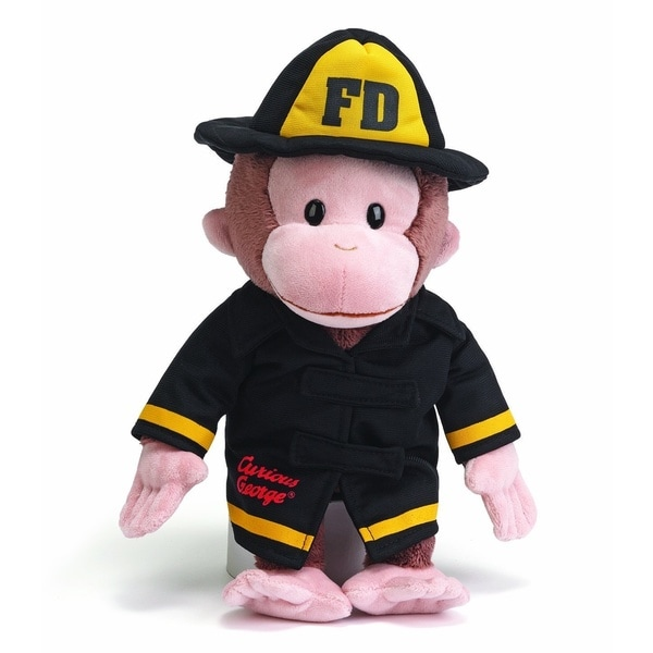 Curious George 13-inch Fireman Plush Toy