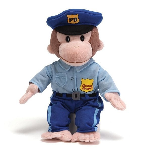 Curious George 13-inch Policeman Plush Toy