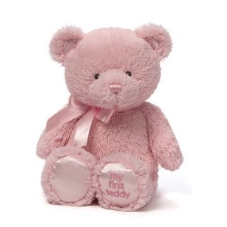 My First Pink 15-inch Teddy Bear Baby