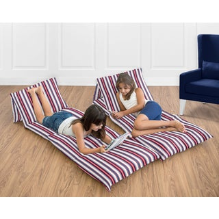 Sweet Jojo Designs Nautical Nights Collection Floor Pillow Lounger Cover