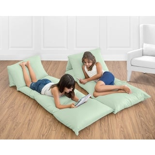 Sweet Jojo Designs Mint Microfiber Floor Pillow Lounger Cover