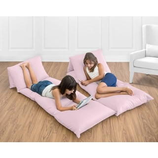 Sweet Jojo Designs Light Pink Floor Pillow Lounger Cover (Pillows Not Included)
