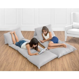 Sweet Jojo Designs Grey Floor Pillow Lounger Cover (Pillows Not Included)