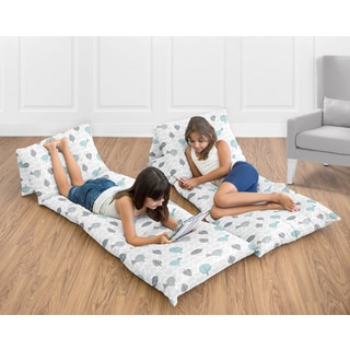 Sweet Jojo Designs Earth and Sky Collection Floor Pillow Lounger Cover (Pillows Not Included)