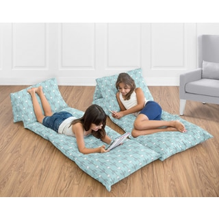 Sweet Jojo Designs Earth and Sky Collection Arrow Print Floor Pillow Lounger Cover (Pillows Not Included)