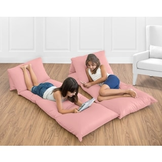 Sweet Jojo Designs Coral Microfiber Floor Pillow Lounger Cover
