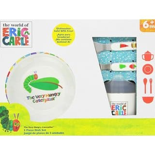 Kids Preferred World of Eric Carle Melamine 5-Piece Feeding Set|https://ak1.ostkcdn.com/images/products/14742334/P21269082.jpg?impolicy=medium
