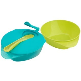 Tommee Tippee Blue/Green Easy Scoop Bowls with Lid and Spoon (Set of 2)